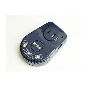 ミヨシ 旅人専科薄型変圧器 USB充電ポ-ト付き 紺 MBT-WDS/NV MBT-WDS NV - 拡大画像