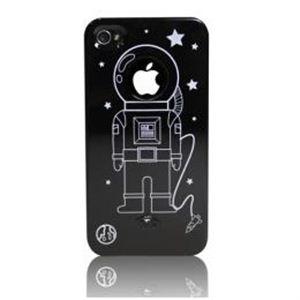 icover iPhone4/4S用ケース DESIGN ブラック AS-IP4AT-BK - 拡大画像