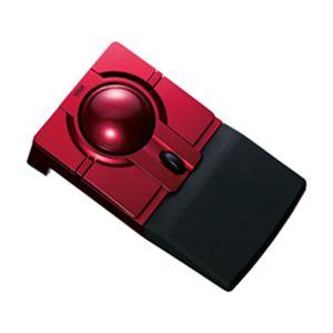 サンワサプライ ワイヤレス光学式トラックボール(レッド) MA-WTB40R - 拡大画像