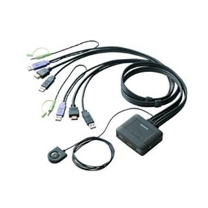 ELECOM(エレコム) HDMI対応パソコン切替器 KVM-HDHDU2 - 拡大画像