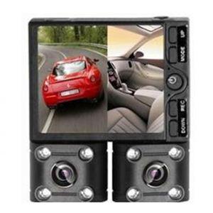 【車載用防犯カメラ】ルックイースト デュアルレンズ ドライブレコーダー LE-DCR02 - 拡大画像