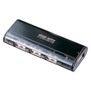 USB2.0ハブ(4ポート・ブラック) USB-HUB225GBK - 拡大画像