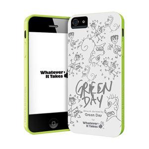 princeton iPhone 5用プレミアムジェルシェルケース (Green Day) WAS-IP5-GGD01 - 拡大画像