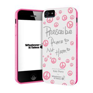 princeton iPhone 5用プレミアムジェルシェルケース (Katey Perry/ホワイト) WAS-IP5-GKP03 - 拡大画像