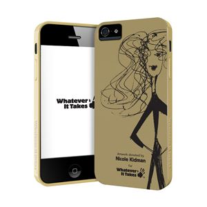 princeton iPhone 5用プレミアムジェルシェルケース (Nicole Kidman) WAS-IP5-GNK01 - 拡大画像