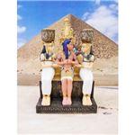 ワールドピクチャー 王妃のキャンドルホルダー エジプト雑貨 W-74585-3980