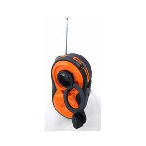 (まとめ)YAZAWA 手回し・USB充電式 電池が不要!AM/FMシャワーラジオ BL108RMDOR【×2セット】 - 拡大画像