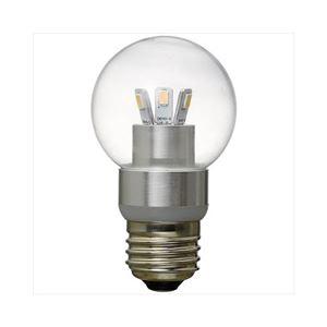 (まとめ)YAZAWA G50ボール形LED電球3W電球色 LDG3LG50【×3セット】