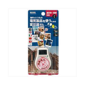 (まとめ)YAZAWA 海外旅行用変圧器240V20W HTD240V20W【×2セット】 - 拡大画像