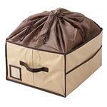 (まとめ)ワイズコーポレーション 除湿&消臭カバン収納ボックス ベージュ 8100522【×2セット】