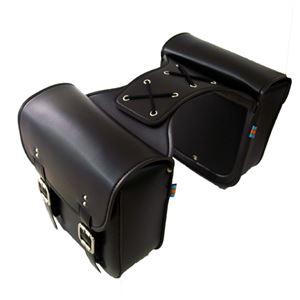 (まとめ)ITPROTECH バイク用サイドバッグ アメリカンタイプ YT-BKSIDEBAG【×2セット】 - 拡大画像
