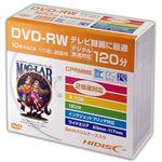 (まとめ)HIDISC DVD-RW 録画用5mmスリムケース10P HDDRW12NCP10SC【×5セット】