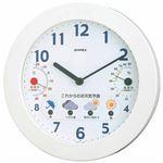 EMPEX 掛け時計 ウォールクロック 晴天望機 1台4役 BW-5271 ホワイト