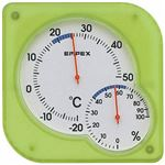 EMPEX 温度・湿度計 シュクレmidi 置き掛け兼用 TM-5603 クリアグリーン