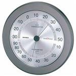 (まとめ)EMPEX 温度・湿度計 スーパーEX高品質 温度・湿度計 壁掛用 EX-2737 メタリックグレー【×2セット】