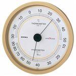 (まとめ)EMPEX 温度・湿度計 スーパーEX高品質 温度・湿度計 壁掛用 EX-2748 シャンパンゴールド【×2セット】