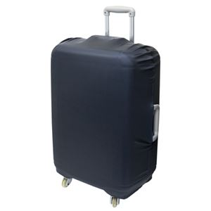 (まとめ)ミヨシ 撥水スーツケースカバー Lサイズ ブラック MBZ-SCL3/BK【×2セット】 - 拡大画像