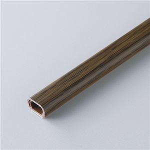 (まとめ) ミヨシ 足せるモール 壁用 1号サイズ 180cm 木目ダーク CMT-118/MD 【×5セット】