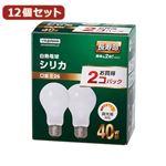 YAZAWA 12個セット 長寿命シリカ40W形2P LW100V40WWL2PX12