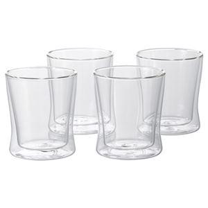 耐熱二重ガラス フリーグラス4個セット K90606024 - 拡大画像