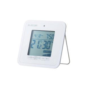 (まとめ) エレコム 温湿度警告計/熱中・ウィルス/コンパクト/ホワイト OND-03WH 【×3セット】