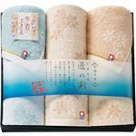 (まとめ) 今治製タオル しまなみ匠の彩 フェイスタオル2P&ウォッシュタオル B3095157 【×3セット】