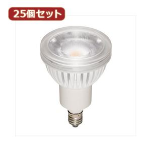 YAZAWA 25個セット ハロゲン形LEDランプ4.3W電球色20°調光対応 LDR4LME11DX25