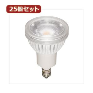 YAZAWA 25個セット ハロゲン形LEDランプ4.3W電球色60°調光対応 LDR4LWWE11DX25