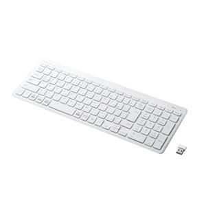 エレコム ワイヤレスコンパクトキーボード/パンタグラフ式/薄型/ホワイト TK-FDP099TWH