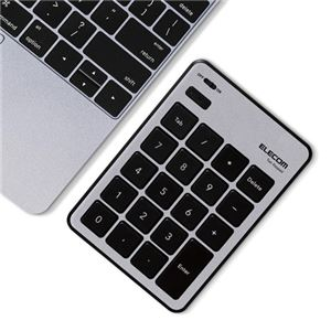 エレコム Bluetoothテンキーパッド/パンタグラフ/MacOS対応/薄型/シルバー TK-TBPM01SV
