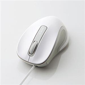 (まとめ) エレコム 有線巻き取り式BlueLEDマウス M-MK1UBSWH 【×3セット】