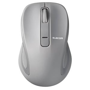 エレコム BlueLEDマウス/Salalシリーズ/Mサイズ/Bluetooth/3ボタン/グレー M-BT18BBGY