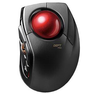 エレコム トラックボールマウス/人差指/8ボタン/チルト機能/有線/無線/Bluetooth/1000万回耐久/ブラック M-DPT1MRBK