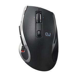 エレコム Ultimate Blueマウス/DUALシリーズ/ハードウェアマクロ搭載/高速スクロール/無線・Bluetooth切替/8ボタン/ブラック M-DC01MBBK