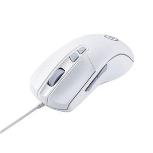 エレコム ゲーミングマウス/光学式/8000万回耐久スイッチ/6200dpi/5ボタン/有線/ホワイト M-G01URWH