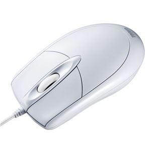 (まとめ) サンワサプライ PS/2有線光学式マウス MA-130HPW 【×3セット】