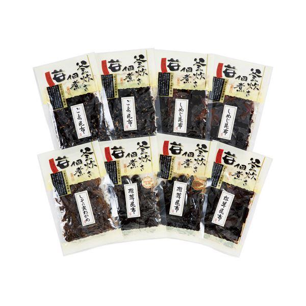 (まとめ)釜炊き佃煮・塩昆布詰合せ(8袋入) K90322716【×2セット】