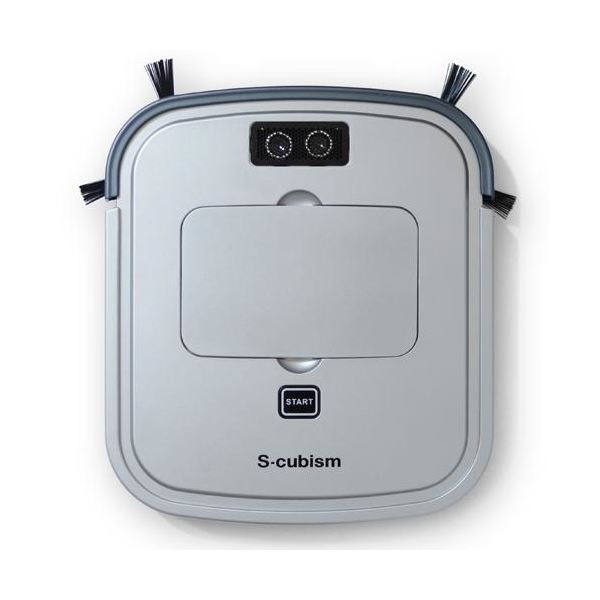 エスキュービズム 床用薄型 ロボット掃除機 シルバーメタリック / ガンメタリック SCC-R05SM