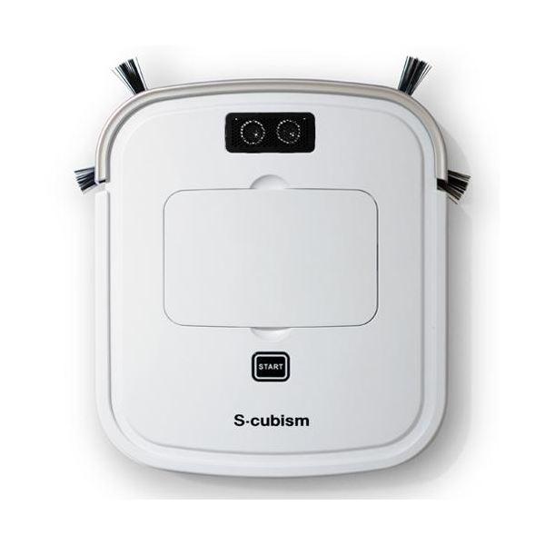 エスキュービズム 床用薄型 ロボット掃除機 パールホワイト / シャンパンゴールド SCC-R05PW