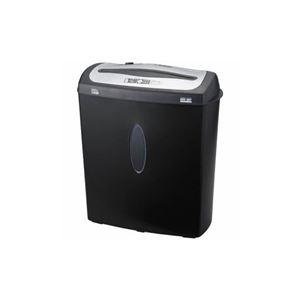 ナカバヤシ クロスカットシュレッダー (A4サイズ/CD・DVD・カードカット対応) NSE-207BK - 拡大画像