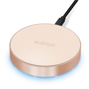 エレコム Qi規格対応ワイヤレス充電器/5W/卓上タイプ/ゴールド W-QA02GD