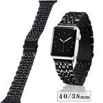 エレコム Apple Watch 40mm/ステンレスバンド/7連/ブラック AW-40BDSS7BK