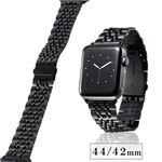 エレコム Apple Watch 44mm/ステンレスバンド/7連/ブラック AW-44BDSS7BK