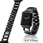 エレコム Apple Watch 44mm/ステンレスバンド/D字/ブラック AW-44BDSSDBK