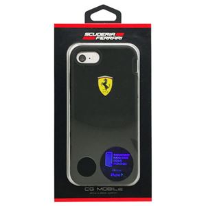 FERRARI iPhone7専用耐衝撃ハードケース SHOCKPROOF - Hard Case - Bi-Material - Racing Shield - Black FEHCP7BK3 - 拡大画像