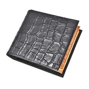 J.HARRISON 牛革(床革)クロコ型押し・折札、カード、コイン入れ付財布 jwt-008 - 拡大画像