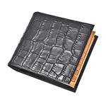 J.HARRISON 牛革(床革)クロコ型押し・折札、カード、コイン入れ付財布 jwt-008