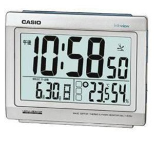 CASIO 電波時計(置き時計)生活環境お知らせ(湿度計/温度計)タイプ DQL-130NJ-8JF - 拡大画像