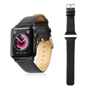エレコム Apple Watch 38mm/ソフトレザーバンド/フラットスクエアタイプ/ブラック AW-38BDLFSBK - 拡大画像
