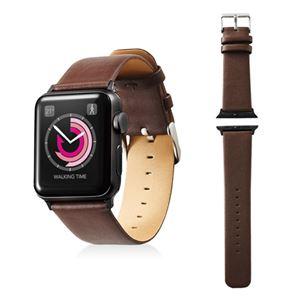 エレコム Apple Watch 38mm/ソフトレザーバンド/フラットスクエアタイプ/ブラウン AW-38BDLFSBR
